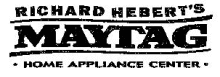 Richard Hebert's Maytag Home Appliance Center Logo